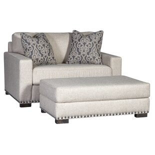 Darby Home Co Chip Armchair and Ottoman