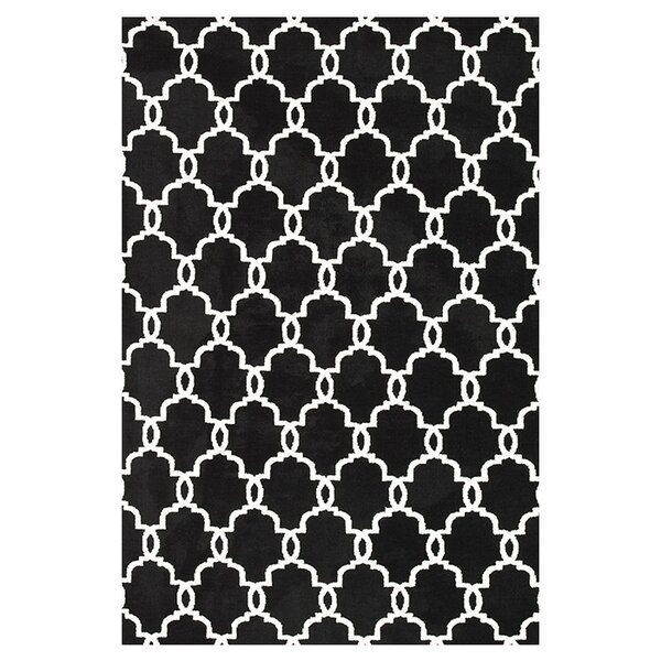black rugs youll love wayfair - Black And White Rugs