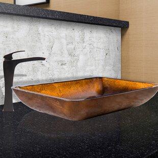 Affordable Price Glass Rectangular Vessel Bathroom Sink with Faucet By VIGO