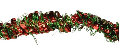 Queens of Christmas 6' Tinsel Garland Colour: Red/Green