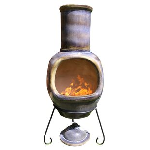 XL Metal Wood Burning Chiminea By Gardeco