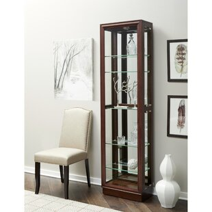 Moore Lighted Curio Cabinet by Alcott Hill