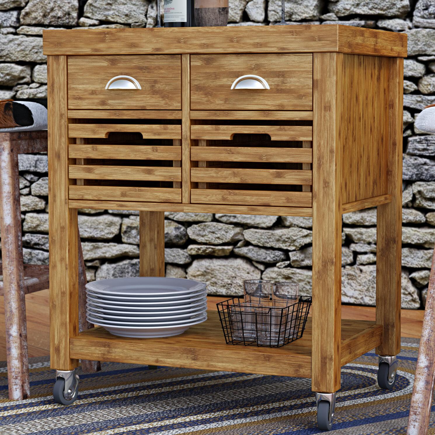 loon peak beartown kitchen cart with stainless steel top reviews rh wayfair com boraam aya bamboo kitchen cart - stainless steel top seville classics stainless steel kitchen cart with bamboo top