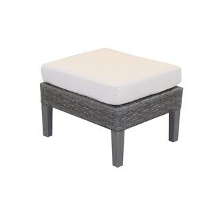 Gales Outdoor Ottoman with Sunbrella Cushions by Ebern Designs