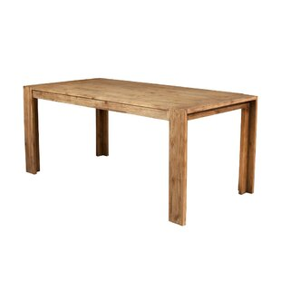 Bridgecliff Rectangular Wooden Fixed Top And Block Legs Dining Table by Union Rustic No Copoun