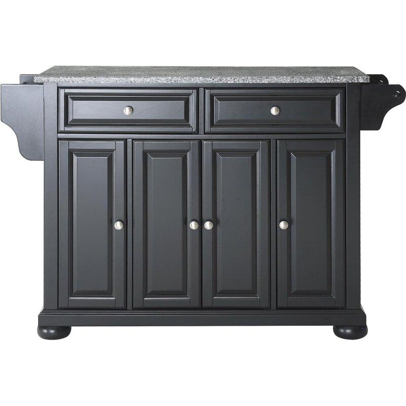 Hedon Kitchen Cart With Granite Top Reviews Joss Main