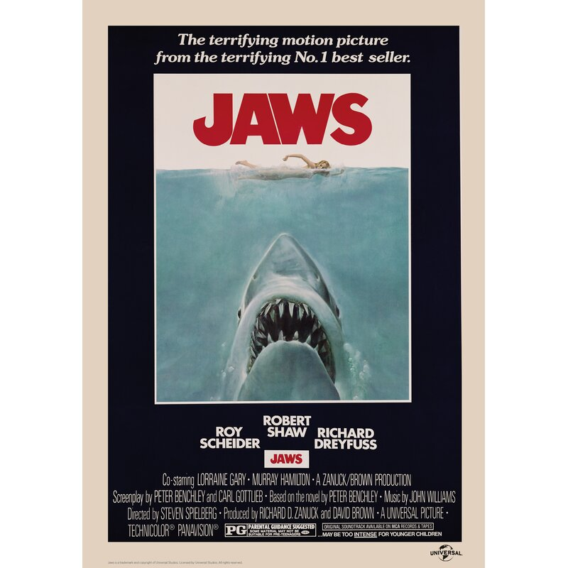 Jaws' Graphic Art Print on Paper