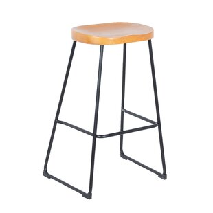 Galligan Solid Wood 307 Bar Stool Set of 2 by 17 Stories