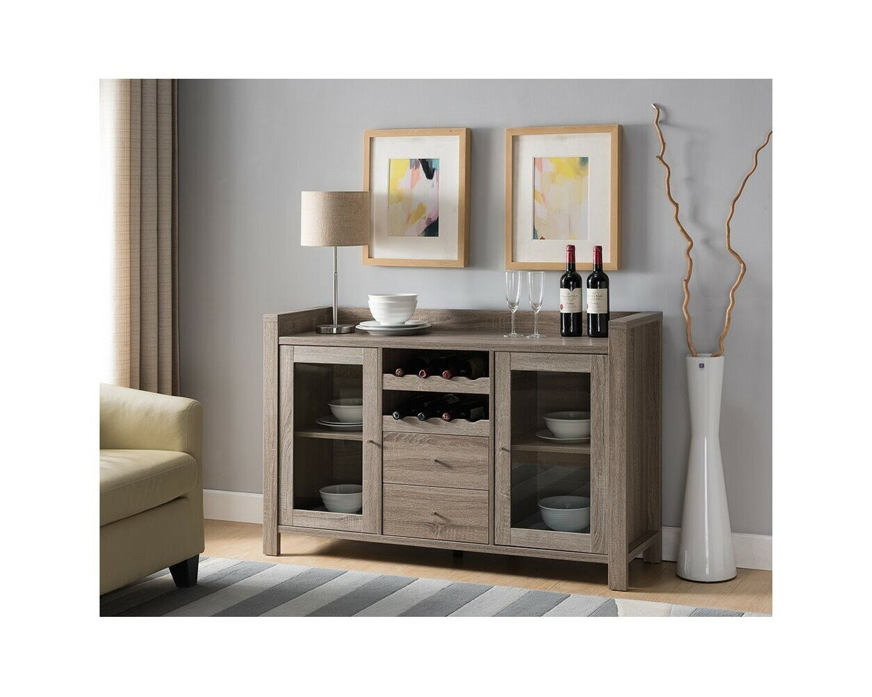 Foundry Select Sharolyn 51 Wide 2 Drawer Sideboard Wayfair