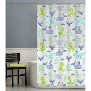 Sea Creatures Single Shower Curtain