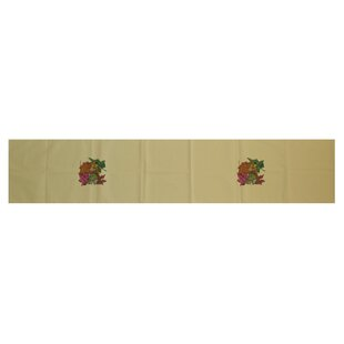 Staggers Autumn Leaves Floral Print Table Runner by The Holiday Aisle