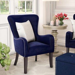 Beau Kaat Velvet Wingback Chair ByWilla Arlo Interiors