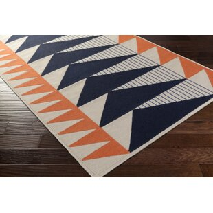Amazing Haveman Hand Woven Navy/Coral Area Rug Amazing Pictures