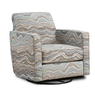 Arikara Swivel Armchair by Wrought Studio