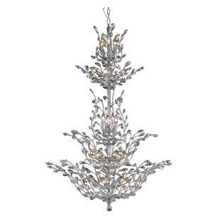 Lamons 25-Light Candle Style Chandelier