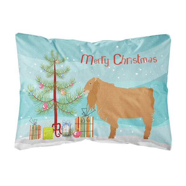 The Holiday Aisle Lenum American Lamancha Goat Christmas Indoor Outdoor Throw Pillow Wayfair