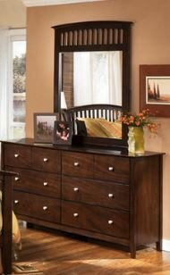 Bascomb 8 Drawer Dresser with Mirror