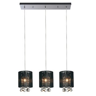 CWI Lighting Water Drop 3-Light Kitchen Island Pendant
