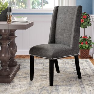 Florinda Wood Leg Upholstered Dining Chair by DarHome Co Cheap