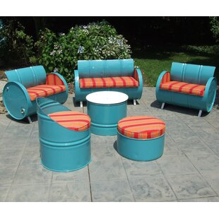 Drum Works Furniture Tahoe 6 Piece Sunbrella Sofa Set with Cushions