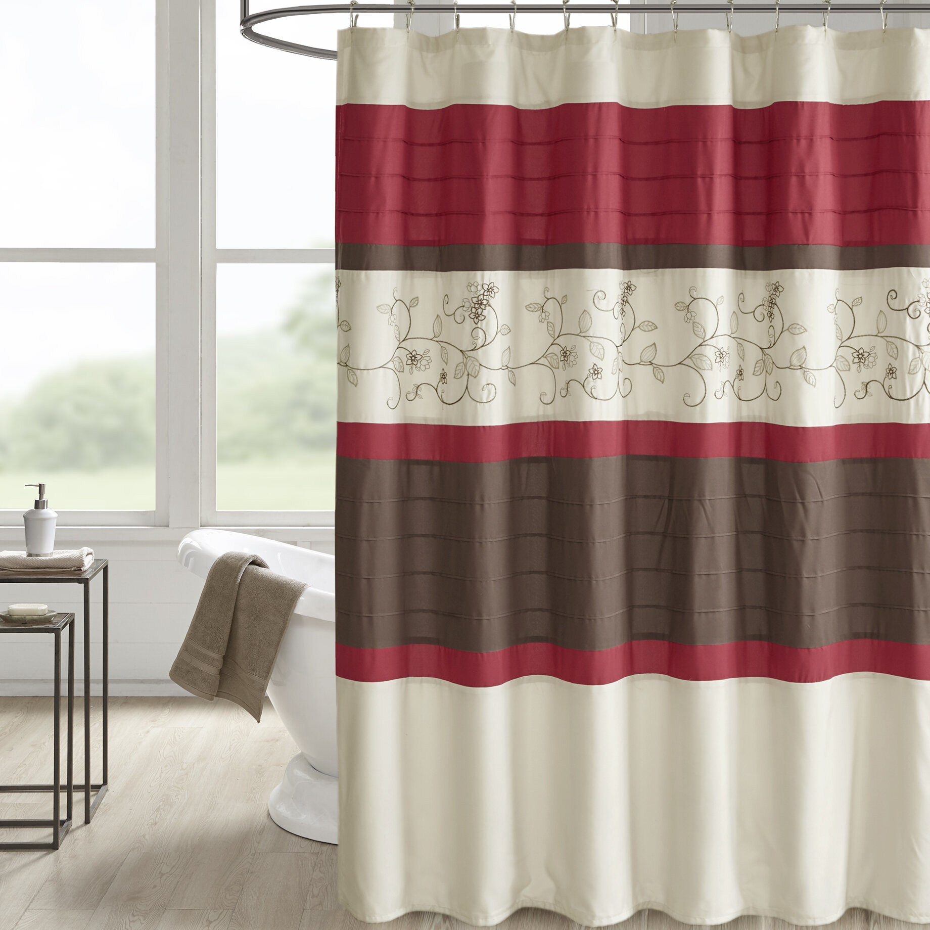 Winston Porter Hannan Embroidered Shower Curtain Reviews