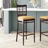 Beechwood Lattice Back Upholstered Seat Bar & Counter Stool by Regal