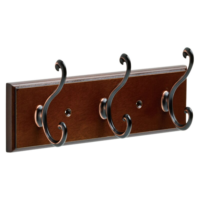 Franklin Brass Rail Wall Mounted Coat Rack & Reviews | Wayfair