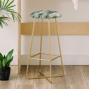Pastel Palm Trees 30 Bar Stool East Urban Home