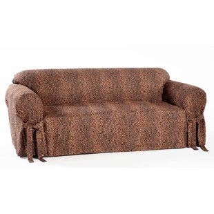 Shop Leopard Print Box Cushion Sofa Slipcover by Classic Slipcovers