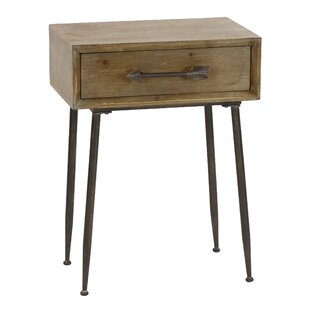 Best Reviews Beaulieu Accent with Drawer End Table by Bungalow Rose