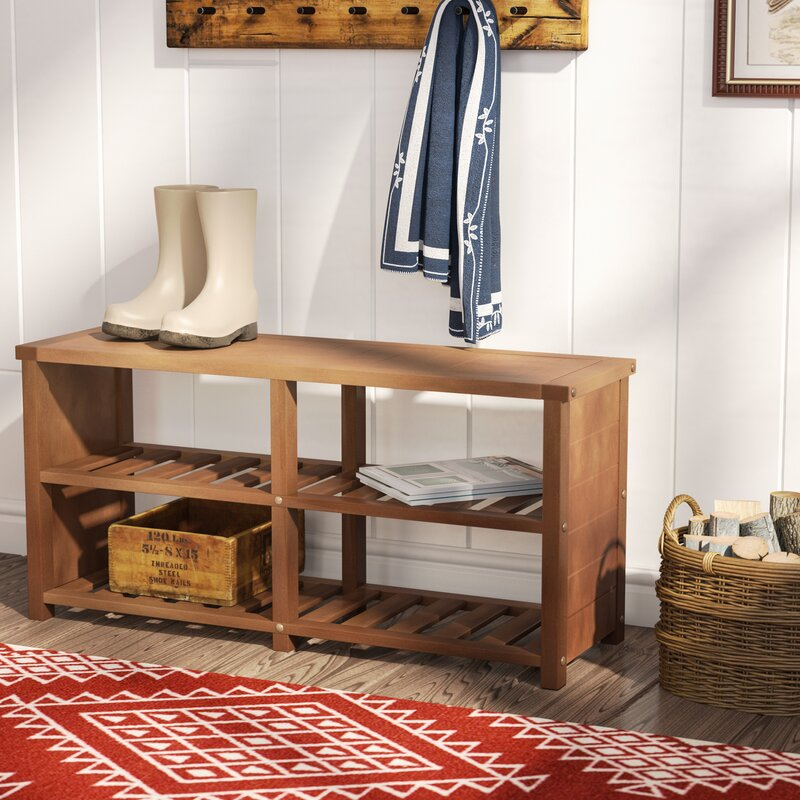Delightful Wood Storage Bench