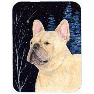 Starry Night French Bulldog Glass Cutting Board ByCaroline's Treasures