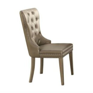 Emil Leatherette Upholstered Dining Chair (Set of 2) by Alcott Hill