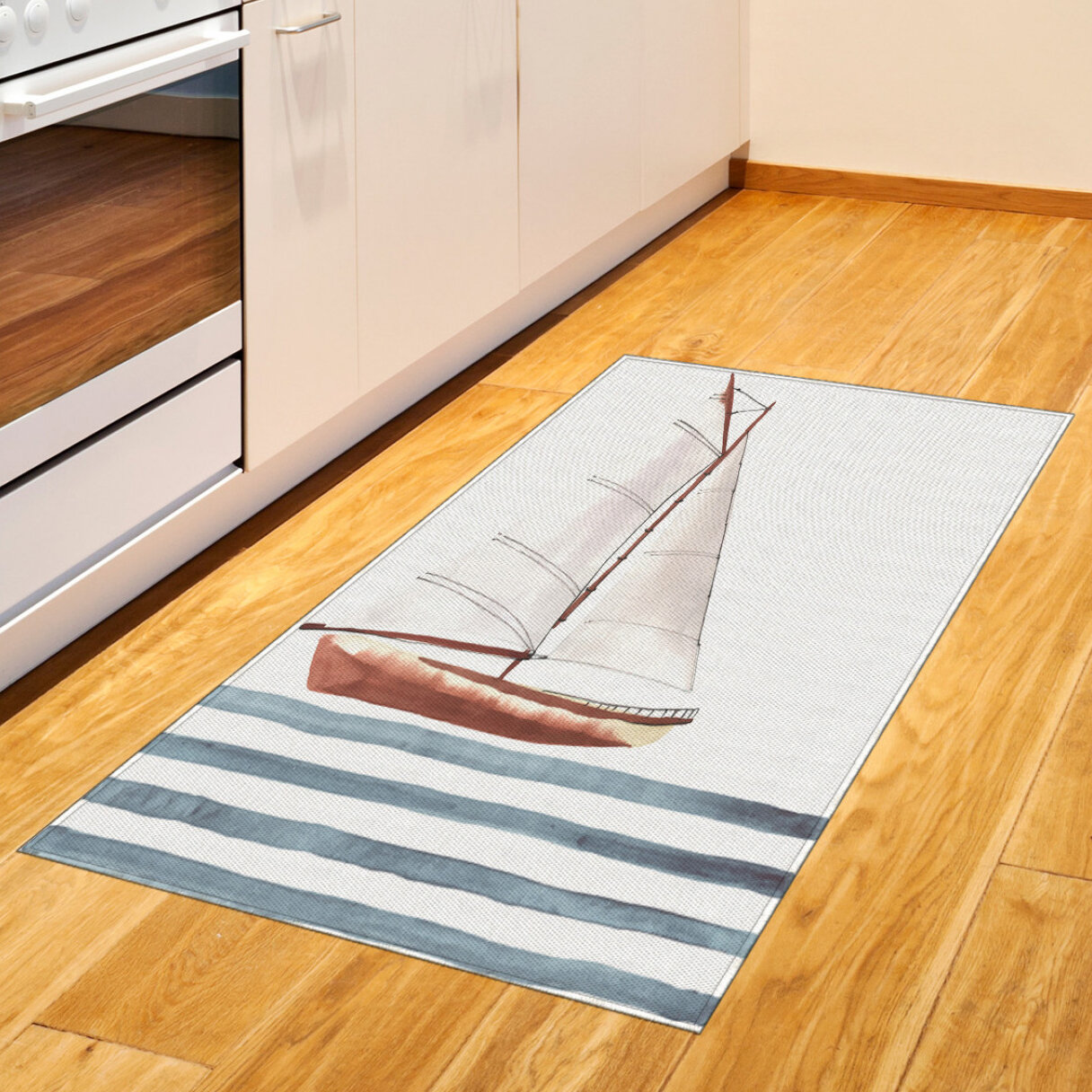 East Urban Home Nautical Gray Area Rug Wayfair