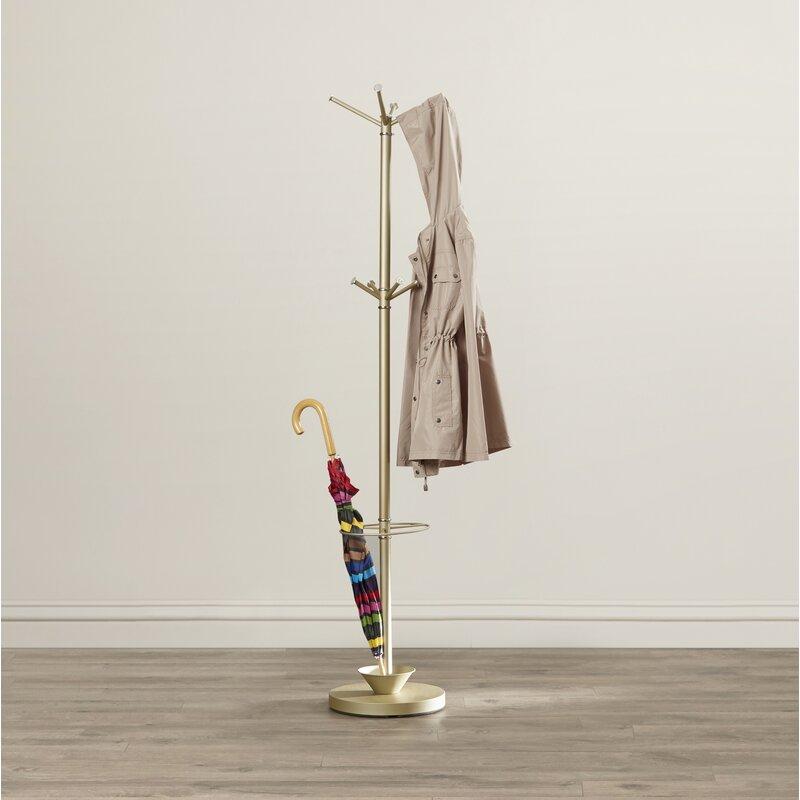 Ridlon Metal Coat Rack With Umbrella Stand