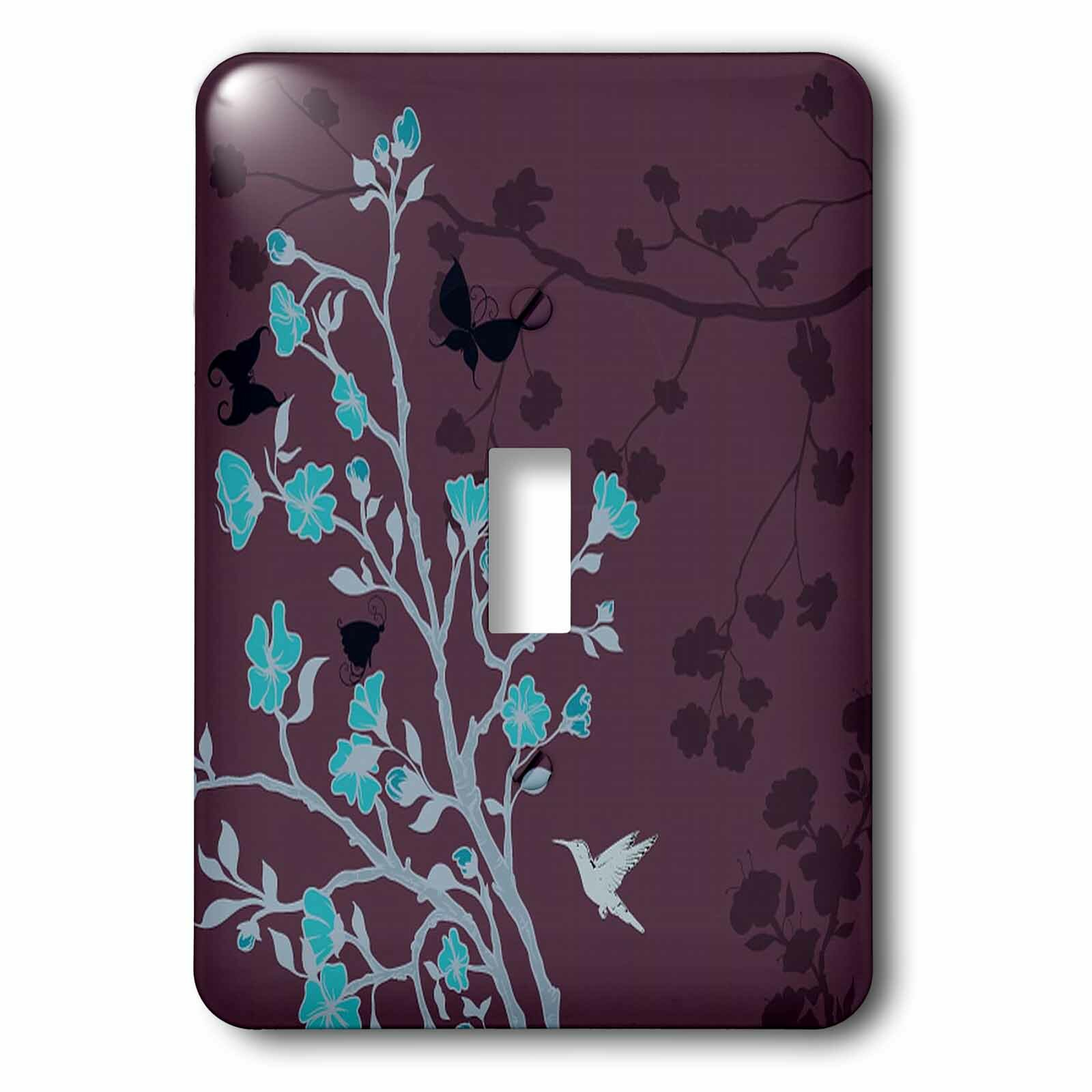 3drose Bright Cherry Blossoms With Hummingbirds Against 1 Gang Toggle Light Switch Wall Plate Wayfair