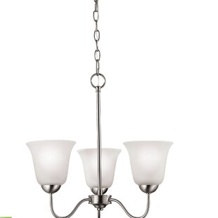 Ashtyn 3-Light Shaded Chandelier by Charlton Home