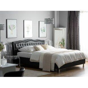 European Kingsize (160 X 200 Cm) Upholstered Platform Bed By Willa Arlo Interiors