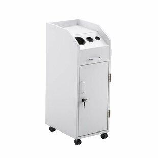 Shuler Salon Trolley Storage Cart Beauty Hair Dryer Holder by Symple Stuff