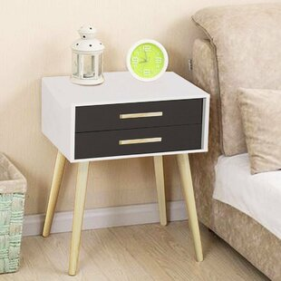 Luca Modern 2 Drawer Nightstand