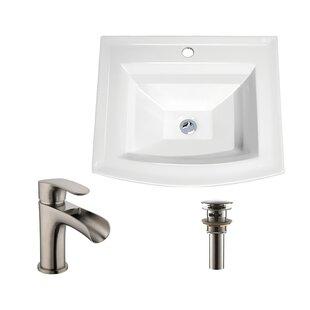 Low priced Rectangular Drop-In Bathroom Sink Faucet By Soleil