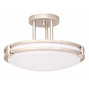 1-Light Semi Flush Mount by Monument