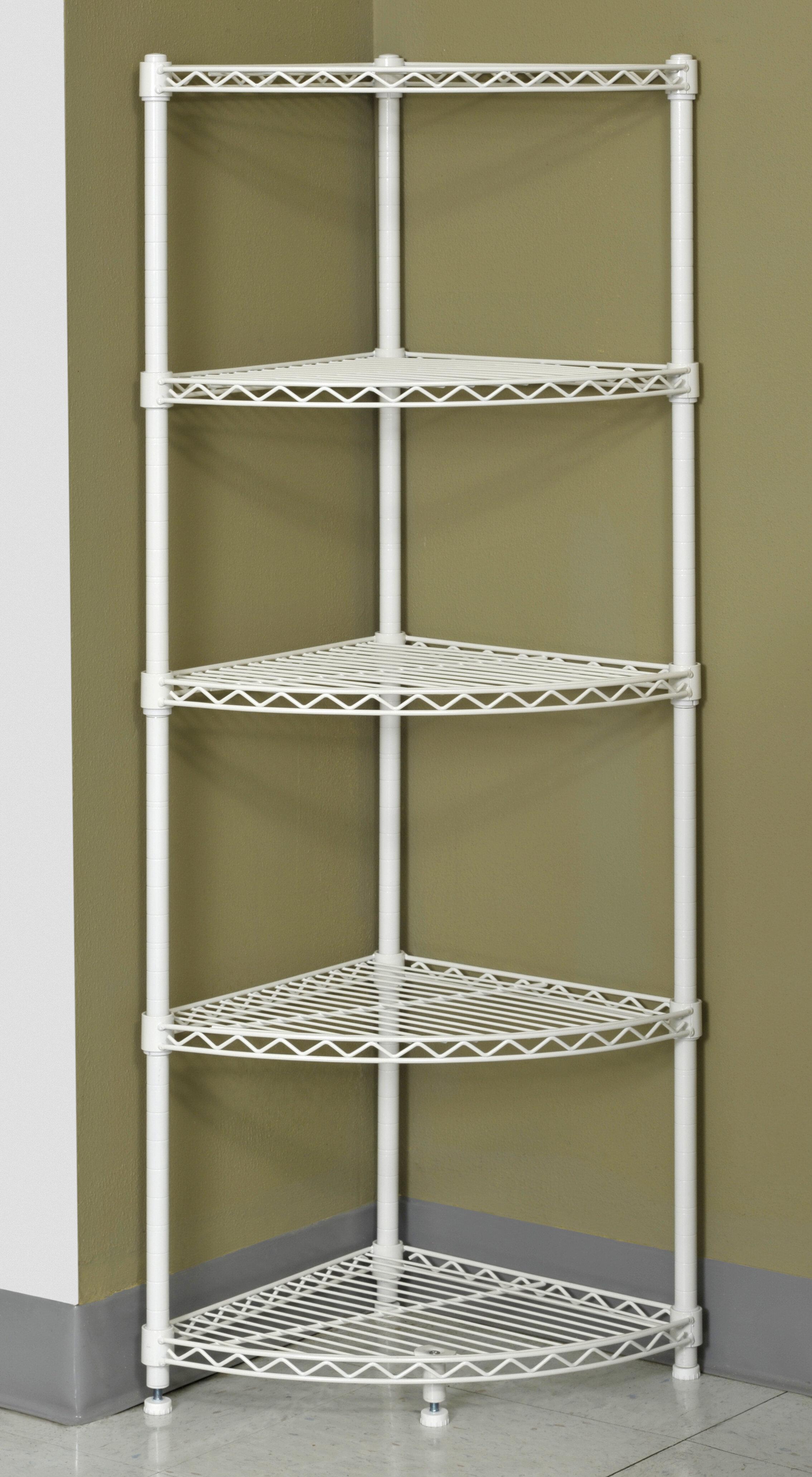 "11"" H x 11"" W 11-Shelf Steel Wire Corner Shelving Unit"