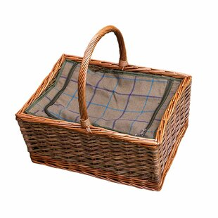 Triple Weave Butchers Large Wicker Picnic Basket With Fitted Cooler By Brambly Cottage