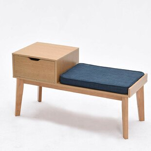 Sabrina Wood Storage Bench By Isabelline
