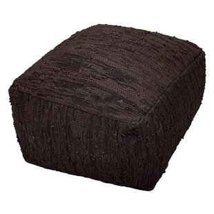 Sandford Leather Pouf