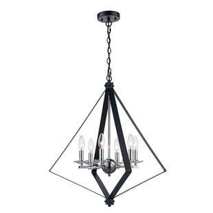 Laughlin 6-Light Geometric Chandelier by Wrought Studio