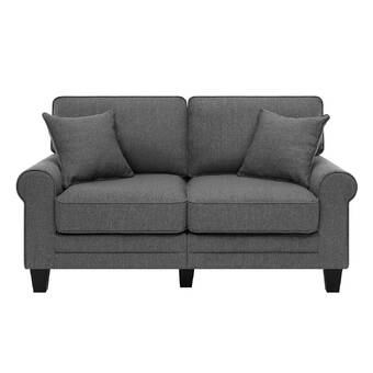 Three Posts Lavine 78 Wide Rolled Arm Loveseat Reviews Wayfair