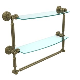 Allied Brass Retro Wave Place Double Wall Shelf