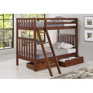 Buy clear Crescent Twin Over Twin Bunk Bed by Harriet Bee Reviews (2019) & Buyer's Guide